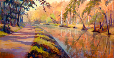 painting of c and o canal