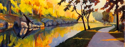 painting of the CandO canal