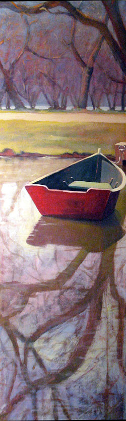 single boat painting